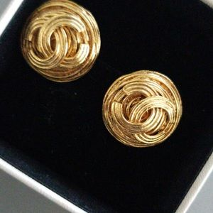 Authentic real gold Chanel earrings